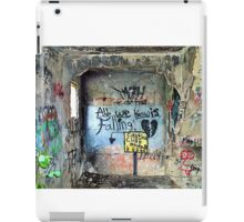 """Ghost Town of Broken Hearts in Ruins:   """"All We Know is Falling </3 Caution Cliff Ahead"""" iPad Case/Skin"""