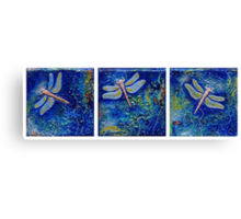 Three Dragonflies Canvas Print