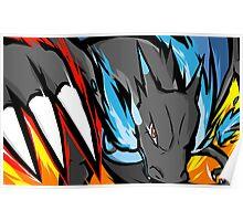Mega Charizard X | Dragon Claw Poster