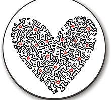 Keith Haring Heart by JuniorRivera