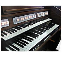 Heavenly Music - Organ Keyboard Poster