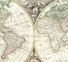 Vintage Map of The World (1775) Sticker