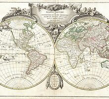 Vintage Map of The World (1775) by BravuraMedia