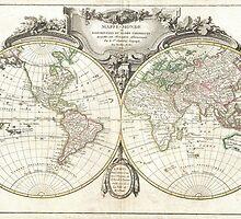 Vintage Map of The World (1775) by BravuraMedia