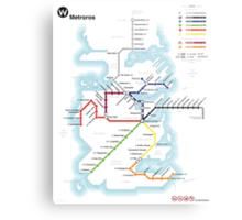 Game of Thrones - Metroros System Map Metal Print