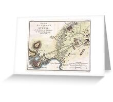 Vintage Map of Athens (1784)  Greeting Card