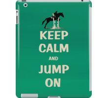 Keep Calm and Jump On Horse iPad Case/Skin