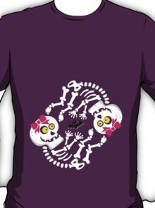 Maternity Skeleton Twin Girls T-Shirt
