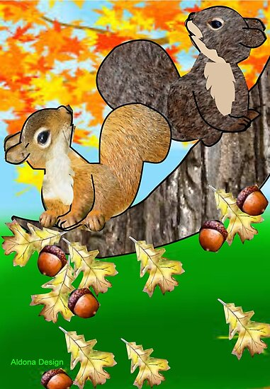 Squirrel with Acorn (2281  Views) by aldona