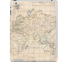 Vintage Map of The World (1799) iPad Case/Skin