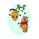 Pooh Bear takes care of his tummy (6435 Views) by aldona