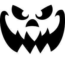 Scary Pumpkin Jack-o-lantern Photographic Print