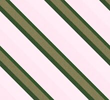 Pink Roses in Anzures 2 Stripes 3D by Christopher Johnson