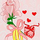 A flower with 2 rings and A Heart shaped Gift box (1416 Views) by aldona