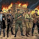 Action Heroes from the 60s and 70s by Al Rio by alrioart