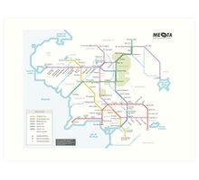 Middle Earth Transit Map Art Print