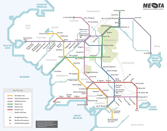 Middle Earth Transit Map by mehmetikberker