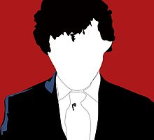 BBC Sherlock: Let's Play Murder Silhouette bloodred by niedscha