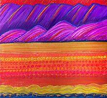 Pastel Art - Sunset Textures by Georgie Sharp