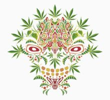 Psychedelic cannabis jungle demon Kids Clothes