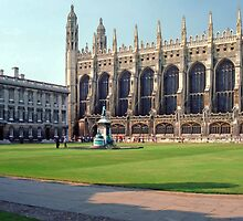 King's College Chapel and Gibbs Building by Priscilla Turner