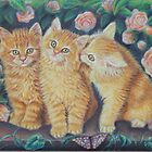 Cats and Roses by AlessandraArt