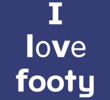 I love footy by onebaretree
