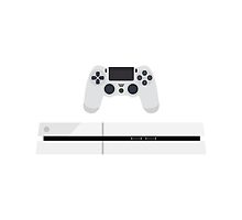 This Is For The Players - PS4 Console & Controller White by Joren Engbers