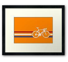 Bike Stripes Netherlands National Road Race v2 Framed Print