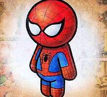 """""""WEB SLINGER"""" POOTERBELLY by Pat McNeely"""