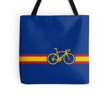 Bike Stripes Spanish National Road Race Tote Bag