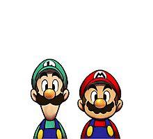Mario & Luigi Photographic Print