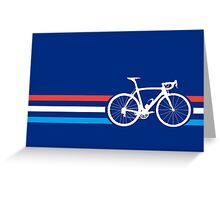 Bike Stripes Luxembourg v2 Greeting Card