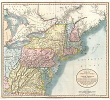Vintage Map of New England (1821)  Photographic Print