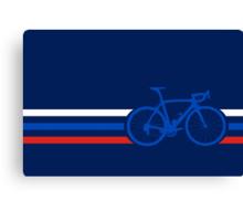 Bike Stripes Russia v2 Canvas Print