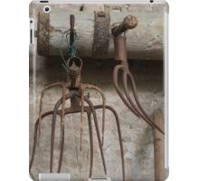 old pitchfork for hay iPad Case/Skin