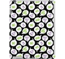 Killjoy Speech Bubbles iPad Case/Skin