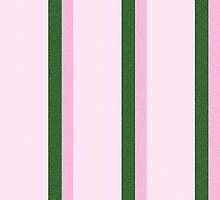 Pink Roses in Anzures 2 Stripes 4V by Christopher Johnson