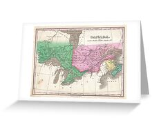 Vintage Map of Ontario and Quebec (1827) Greeting Card