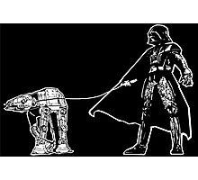 Darth Vader Walking ATAT Photographic Print