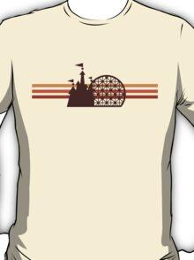 Retro Disney World 3 Stripe Logo4 T-Shirt
