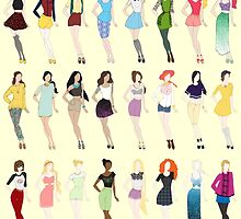 Disney Fashion by LazyDaisy