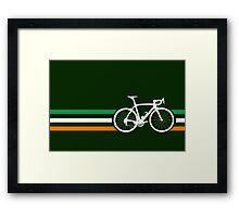 Bike Stripes Irish National Road Race v2 Framed Print