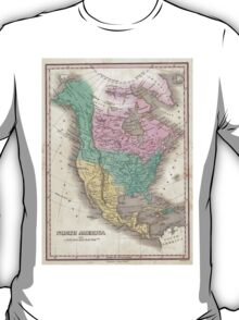 Vintage Map of North America (1827) T-Shirt