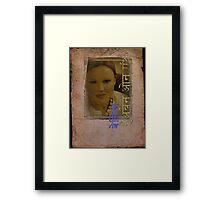 Belinda Carlisle - Heaven On Earth (Sanskrit Design #2) Framed Print