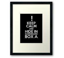 Keep Calm and Cardboard Box Framed Print
