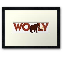 Wooly Mammoth Framed Print