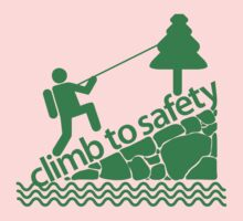 Climb To Safety Green Kids Clothes