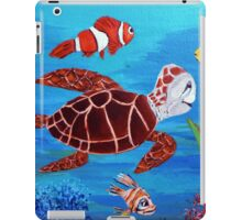 Swimming the sea iPad Case/Skin