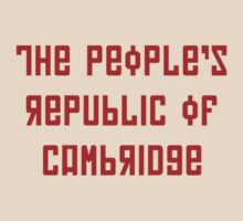 The People's Republic of Cambridge (red letters) by diculousdesigns